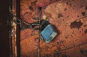 Key Lock Door Rusty. poster