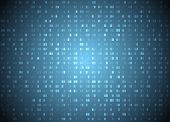 Vector Hexadecimal Code Blue Background. Big Data And Programming Hacking, Deep Decryption And Encry poster