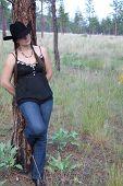 Brunette Cowgirl