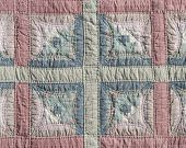 picture of scrappy  - Homemade colorful padded pattern patchwork folksy multicolored quilt - JPG