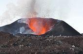 Eyjafjallajökull erupting volcano