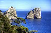 Capri And Faraglioni, Campania, Italia