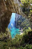 Arco natural en Capri, Campania, Italia