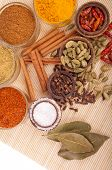 stock photo of garam masala  - gorgeous setting with cooking spices and herbs  - JPG