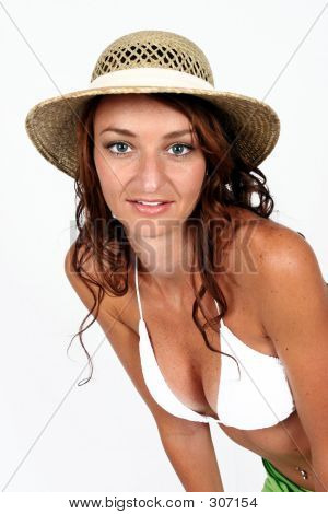 Woman Standing In Bikini poster