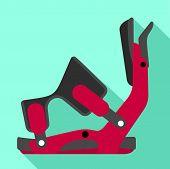 Ski Clamp Icon. Flat Illustration Of Ski Clamp Vector Icon For Web Design poster