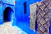 Chefchaouen, A City With Blue Painted Houses. A City With Narrow, Beautiful, Blue Streets. poster