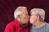 Kissing Older Couple