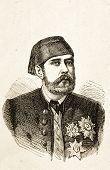 Portrait von Meheme Pascha, Vizekönig von Ägypten. Illustration von Alwin Zschiesche, veröffentlicht am