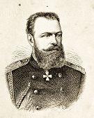 Porträt von Alexander Iii., Kaiser von Russland... Illustration von Alwin Zschiesche, veröffentlicht am