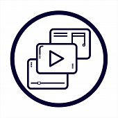 Video Player Icon Vector Icon On White Background. Video Player Icon Modern Icon For Graphic And Web poster