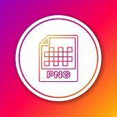 Color Png File Document Icon. Download Png Button Line Icon Isolated On Color Background. Png File S poster