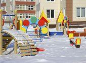 New Kindergarten With A Playground .