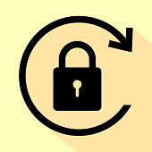 Lock Icon Isolated On White Background. Lock Icon Simple Sign. Lock Icon Trendy And Modern Symbol Fo poster