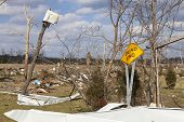 Henryville, IN - March 4, 2012: Aftermath of category 4 tornado that touched down in town on March 2