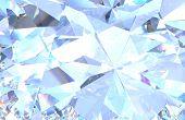 Diamond Background Texture. Macro 3d Rendering Model poster