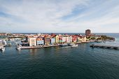 stock photo of curacao  - Colorful buildings of Willemstad Curacao Netherlands Antilles - JPG