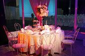 Beautiful Table Set For Wedding