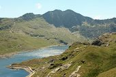 View from mount snowdon, Wales