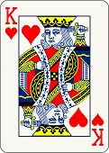 King of Hearts - vector illustration of a poker playing card