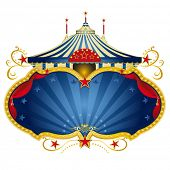 foto of school carnival  - A circus frame with a big top and a large copy space with curtains for your message - JPG