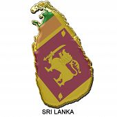 Sri Lanka Metal Pin Badge
