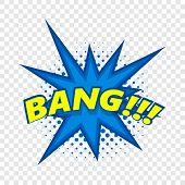 Bang, Comic Book Explosion Icon. Pop Art Illustration Of Bang, Comic Book Explosion Vector Icon For  poster