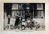 ITALY - CIRCA 1910: A picture printed in Italy shows image of Saint Marco Piazza, Vintage postcards