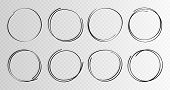 Hand Drawn Circles Sketch Frame Super Set. Rounds Scribble Line Circles. Vector Illustrations poster
