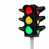 Traffic lights, 3d