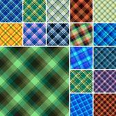 Lot Of Seamless Plaid Patterns