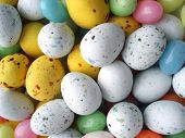 foto of easter-eggs  - background of colored chocolate easter eggs - JPG