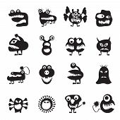 stock photo of amoeba  - various abstract monsters illustration  - JPG