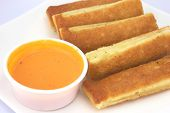 Breadsticks And Dipping Grlic Cream