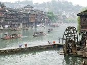 Tuojiang River In Fenghuang, China