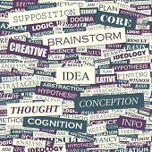 IDEA. Word collage. Vector illustration.