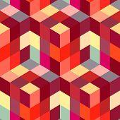 Mosaico abstrato do hexágono.