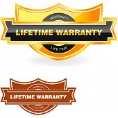 LIFETIME WARRANTY. Vector illustration.