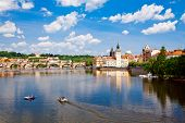 View Of Charles Bridge And Vltava River