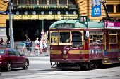 MELBOURNE, AUSTRALIA - OCTOBER 29: Iconic Flinders Street Station  was completed in 1910 and is used by over 100,000 people  each day - 29 October 2012, Melbourne Australia,