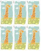 Постер, плакат: Жирафа головоломки