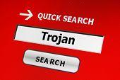 Web concepto Trojan