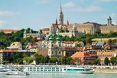 picture of hungarian  - View of Buda side of Budapest with the Buda Castle - JPG