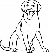 Labrador Retriever Dog Cartoon For Coloring