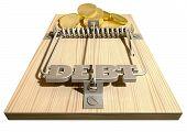 Mouse Trap de dívida moedas frente