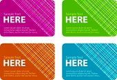 Business Cards With Checked Texture