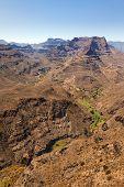 Barranco de Fataga y alrededor de las montañas de Canarias Grad