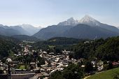 German Alps With Watzmann And Berchtesgaden
