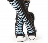 Sports shoes - high top knee sneakers