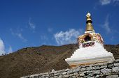 Traditional Tibetan Stupa In Nepal,asia